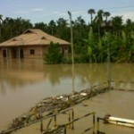 Banjir di Lhoksukon yang terjadi Rabu (14/1/2015)