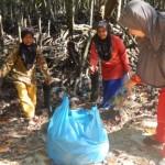 Relawan sedang mengumpulkan sampah di Langsa   Foto: Ist