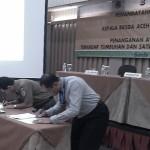 Penekenan MoU antara BKSDA Aceh dan Polda Aceh untuk penanganan pidana lingkungan   Foto: T M Zulfikar