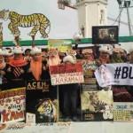 Aksi aktivis anti perburuan Harimau di Banda Aceh, Jumat (29/7/2016) | Foto: Ist